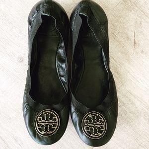 Tory Burch Caroline Leather Elastic Ballet Flats|9